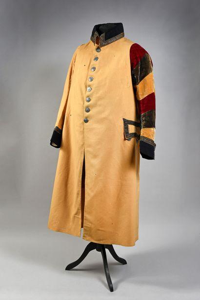 Manteau de cocher en drap de laine, velours...