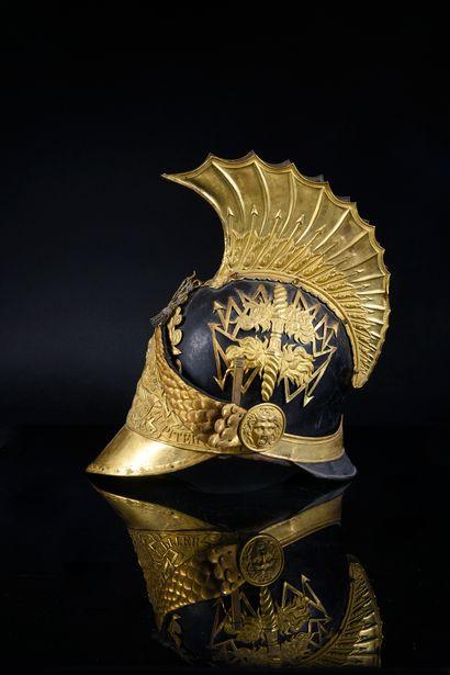 Rare casque d'officier de Gendarme de la...