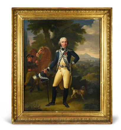 Portrait en pied d'un dignitaire du Royaume...