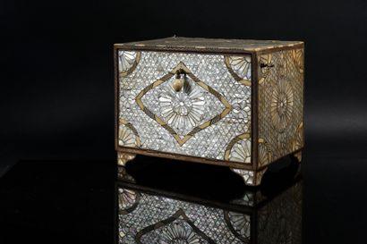 Coffret de bijoutier de forme quadrangulaire...