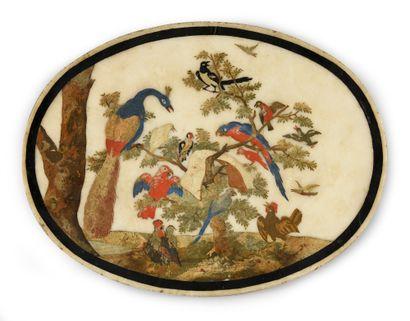 Concert d'oiseaux (Vogelconcert). Plaque...