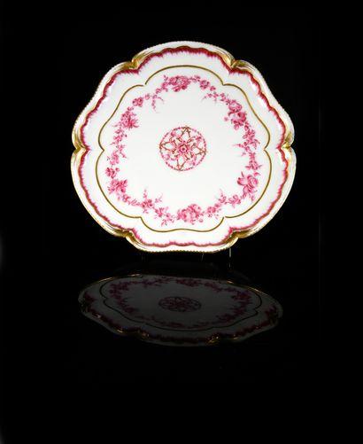 Plateau Bouret en porcelaine de Sèvres du...