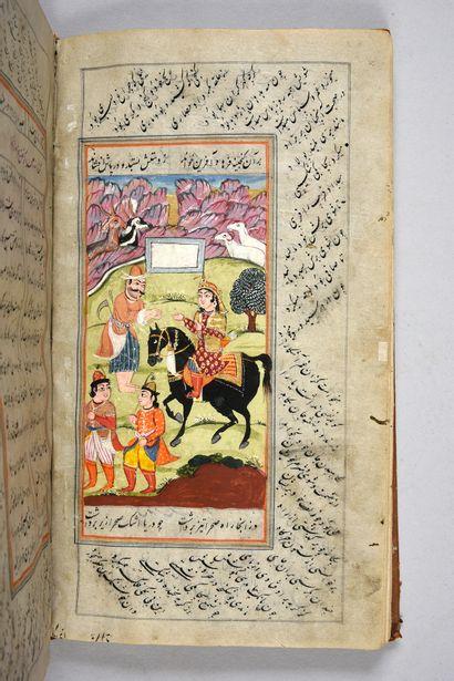 Manuscrit illustré de 15 miniatures, extrait...