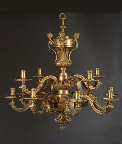 Lustre Mazarin à 12 lumières sur 2 rangs...