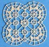 Ensemble de motifs à incruster, type Venise, aiguille, début XXe siècle, 300 motifs...