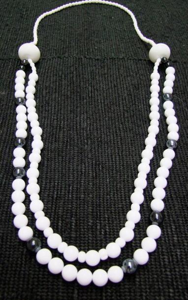 PROTOTYPE de Grand sautoir de 55cm de perles...