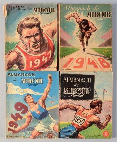 Lot de 4 Almanachs de Miroir Sprint. 1947...