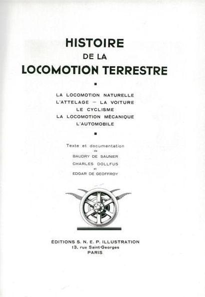 Livre. Histoire de la locomotion terrestre...