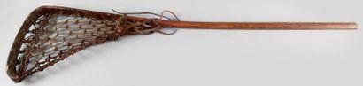 Crosse de jeu de Lacrosse en bois avec lanières...