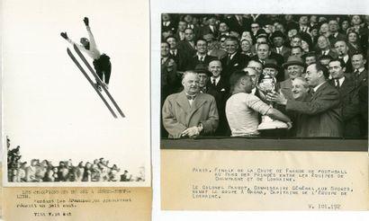 Lot de 17 photos de propagande sur le sport...