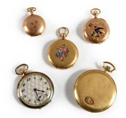 Un lot composé de: - une montre de gousset...