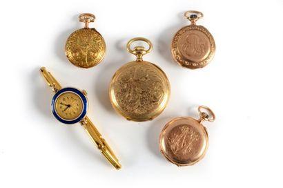 Un lot composé de: - une montre de poignet...