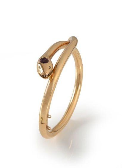 Un bracelet serpent en or jaune (18K 750...