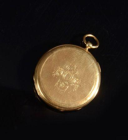 Une montre de gousset en or jaune (18K, 750?)la...