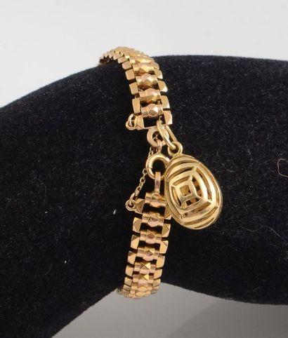 Bracelet en or jaune 18K, articulé de maillons...