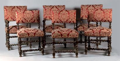 Mobilier de salon composé de trois fauteuils...