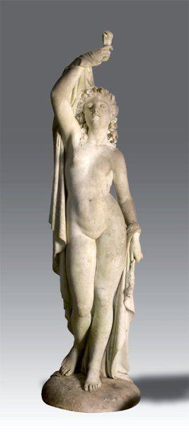 Le sommeil Importante statue en marbre blanc,...