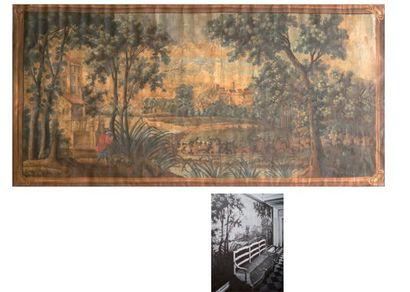 Toile peinte pour carton de tapisserie, fin...
