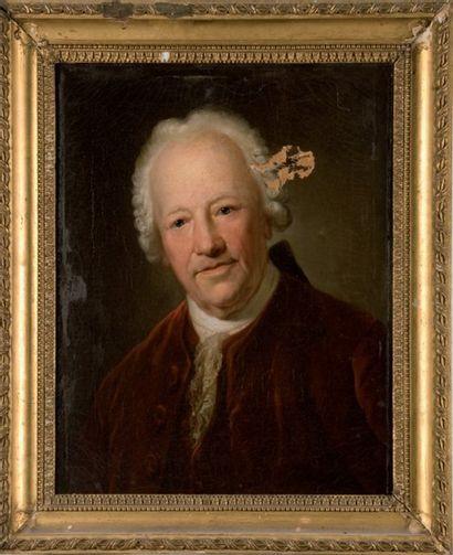 Ecole FRANCAISE de la fi n du XVIIIe siècle Portrait de Gluck. Toile. 56 x 46 cm....