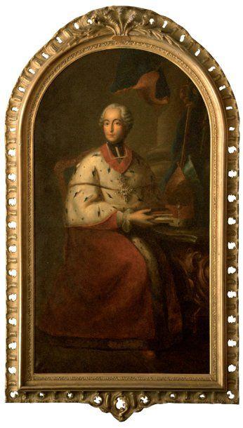 Paul FRAILLION (Actif au XIXe siècle). Portrait d'un Prince évêque allemand. Sur...