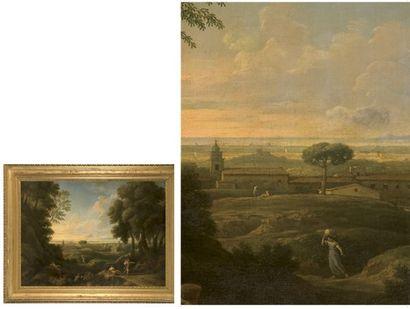 Jan Frans van BLOEMEN dit l?ORIZONTE et son ATELIER (Anvers 1662 ? Rome 1749° Paysage...