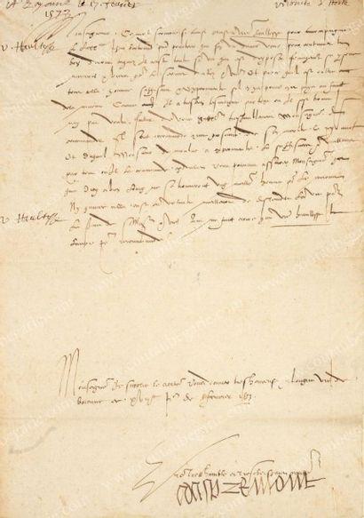 APREMONT, Henri, vicomte d'Horte