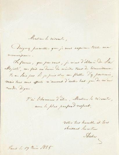 AUBER Daniel-François-Esprit (1782-1871)