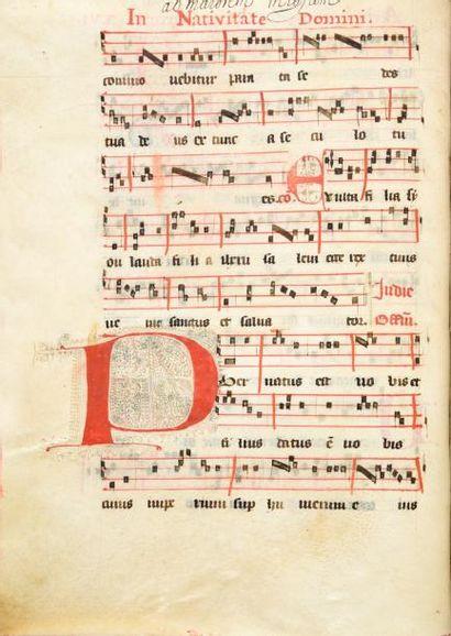 Antiphonaire. XVe siècle. Un volume in-4°...