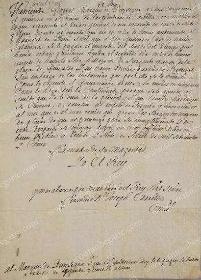 PHILIPPE V, roi d'Espagne, né prince de France, duc d'Anjou (1683-1746)