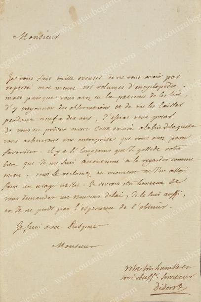 DIDEROT Denis (1713-1784)
