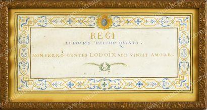 LOUIS XV, roi de France. Gouache sur vélin...