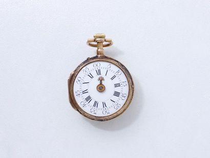 Petite montre de poche 3 tons d'or 750 millièmes,...