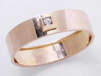 Bracelet jonc rigide ouvrant en or 750 millièmes,...