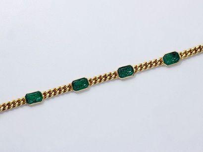 Bracelet articulé en or 750 millièmes, maille...
