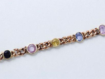 Bracelet articulé en or rose 750 millièmes,...