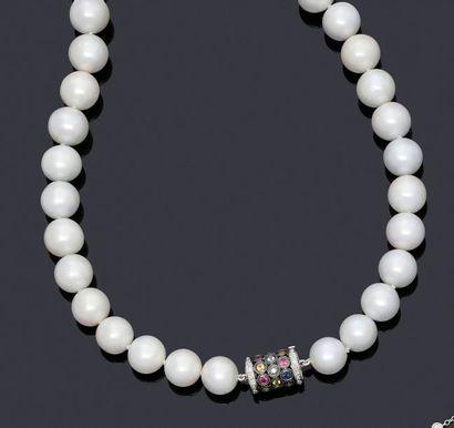 Collier de perles de culture blanche, le...