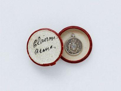 Médaille miniature en argent 800 millièmes...