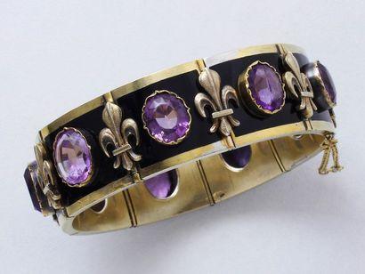 Bracelet légitimiste articulé en vermeil...
