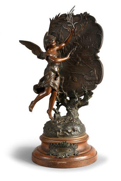 Sculpture en régule «Récompense aux Sports»...