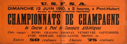 Affichette des Championnats de Champagne...