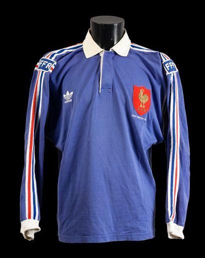 Maillot n°7 de l'équipe de France porté en...