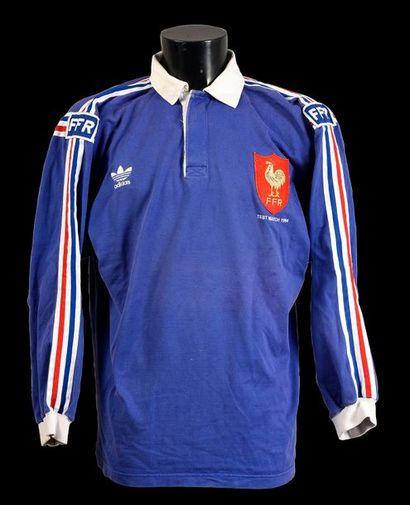 Maillot n°8 de l'équipe de France porté en...