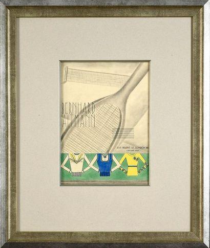 Dessin original pour la Maison Bernhard Altmann...