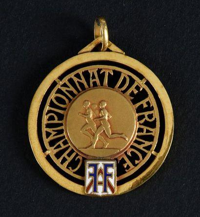 Médaille de Champion de France 1952 du 5000...