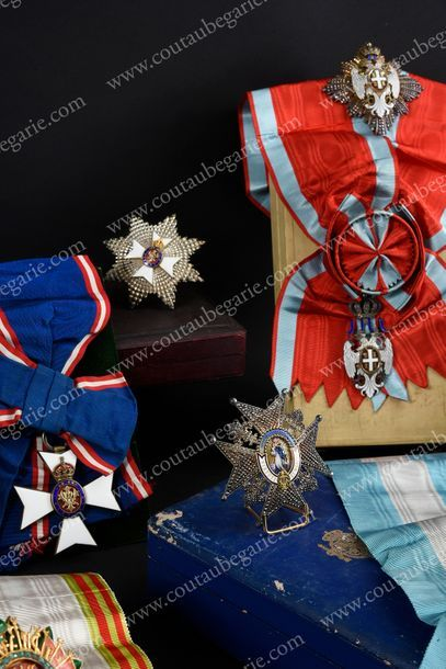 ORDRE DE L'AIGLE BLANC (Serbie). Modèle grand-croix,...