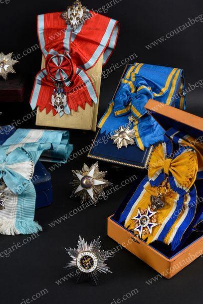ORDRE DE L'AIGLE BLANC (Serbie). Modèle grand-croix, composé de son insigne en vermeil...