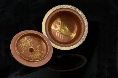 Paire de petites terrines et deux couvercles en porcelaine de Meissen du XVIIIe...
