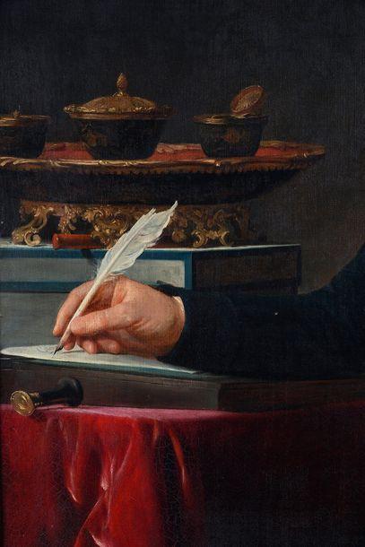 Ecole FRANCAISE vers 1790, entourage de François André VINCENT Portrait d'homme dans...
