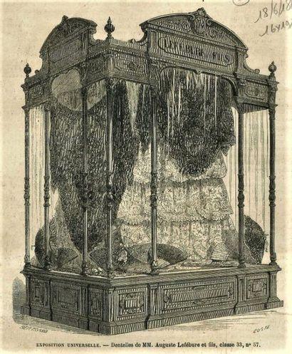 Exceptionnel volant en Alençon, aiguille, Lefébure, 1867. Présenté par la maison...