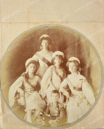 ENFANTS DE L'EMPEREUR NICOLAS II. Portrait...